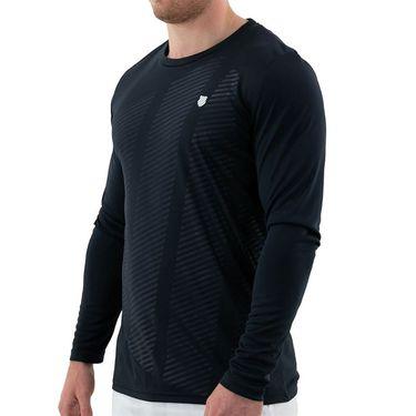 K Swiss Hypercourt Long Sleeve Shirt Mens Blue Graphite 104913 427