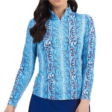 IBKUL Long Sleeve Zip Mock Top Womens Kimmy Plum 10980 KPû