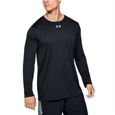 Under Armour Locker 2.0 Long Sleeve Shirt Mens Black/Metallic Silver 1305776 001