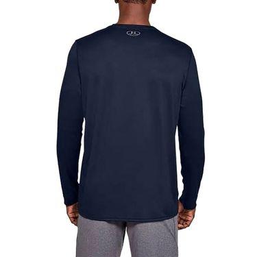 Under Armour Locker 2.0 Long Sleeve Shirt Mens Midnight Navy/Metallic Silver 1305776 410
