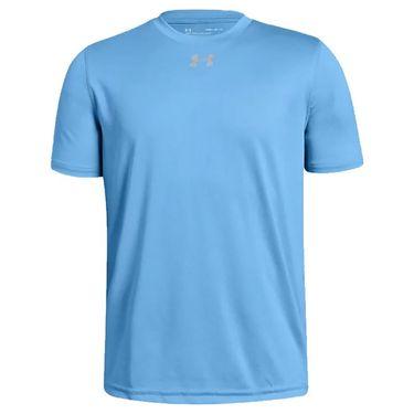 Under Armour Boys Locker Tee Shirt Carolina Blue/Metallic Silver 1305845 475