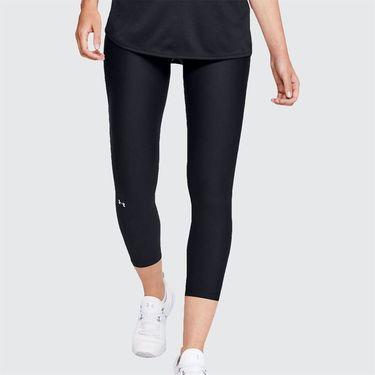 Under Armour Balance Crop Legging Womens Black/White 1326788 004