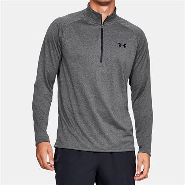 Under Armour Tech 2.0 1/2 Zip Long Sleeve Pullover Mens Carbon Heather/Black 1328495 090