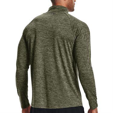 Under Armour Tech 2.0 1/2 Zip Long Sleeve Pullover Mens Marine OD Green/Black 1328495 390