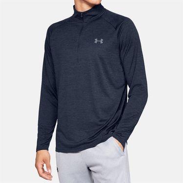 Under Armour Tech 2.0 1/2 Zip Long Sleeve Pullover Mens Academy/Steel 1328495 409