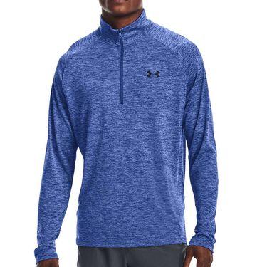 Under Armour Tech 2.0 1/2 Zip Long Sleeve Pullover Mens Tech Blue/Black 1328495 432