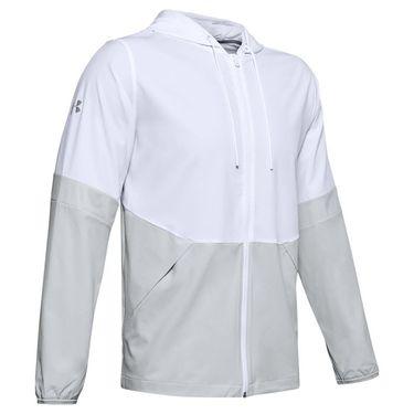 Under Armour Squad Woven Jacket Mens White/Black 1343180 100