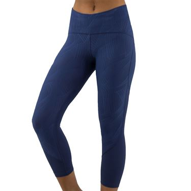 Under Armour Fly Fast Jacquard Crop Legging Womens Blue Ink/Midnight Navy 1350079 497