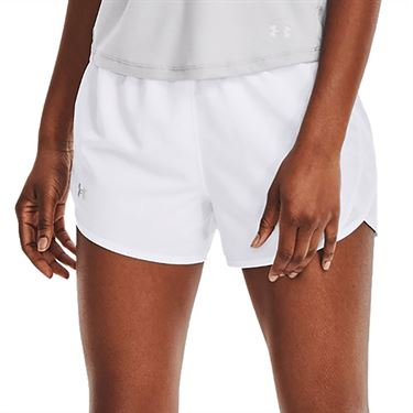 Under Armour Fly By 2.0 Short Womens White/Reflective 1350196 100