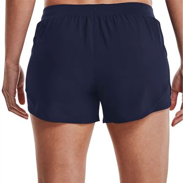 Under Armour Fly By 2.0 Short Womens Midnight Navy/Reflective 1350196 411
