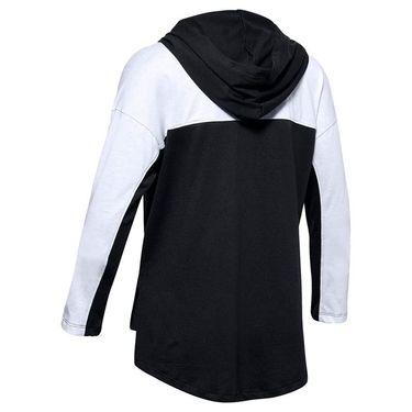 Under Armour Girls Favorites Jersey Hoodie Black/White 1351675 001