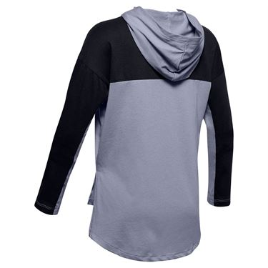 Under Armour Girls Favorites Jersey Hoodie Purple Dusk/White 1351675 555