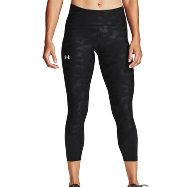 Under Armour Fly Fast 2.0 Sizzle Crop Pant Womens Black 1356179 001