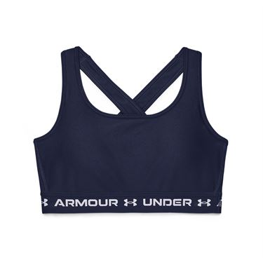 Under Armour Mid Crossback Sports Bra Womens Midnight Navy/White 1361034 410