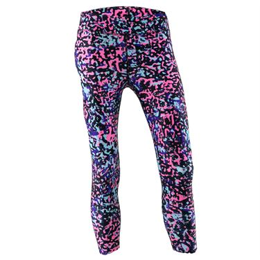 Under Armour Girls Heat Gear Printed Ankle Crop Pant Black/White 1361239 002
