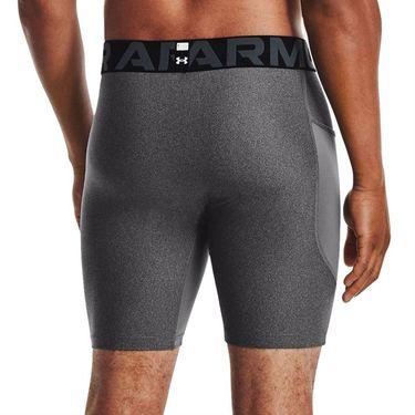 Under Armour Heatgear Compression Shorts Mens Carbon Heather/Black 1361596 001