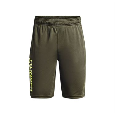 Under Armour Boys Prototype 2.0 Wordmark Shorts Marine OD Green/Pale Moonlight 1361818 390