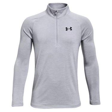 Under Armour Boys Tech 1/2 Zip Pullover Mod Gray Light Heather/Black 1363286 011