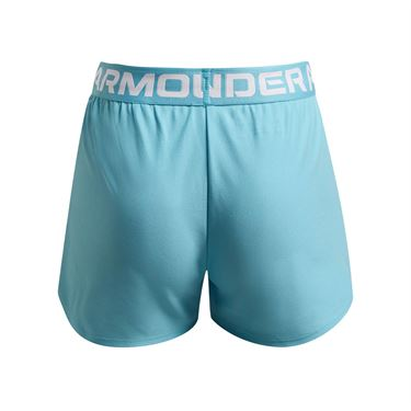 Under Armour Girls Play Up Shorts Sky Blue/White 1363372 914