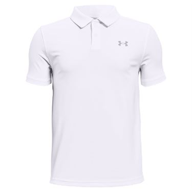 Under Armour Boys Performance Polo Shirt White/Mod Gray 1364425 100
