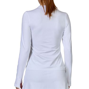 Sofibella Center Line Long Sleeve Top Womens White 1507 WHT