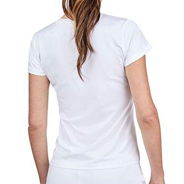 Sofibella Alignment Short Sleeve Top Womens White 1729 WHT