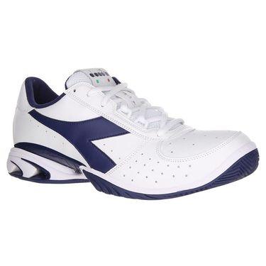 Diadora Speed Star K Elite AG Mens Tennis Shoe - Navy/White