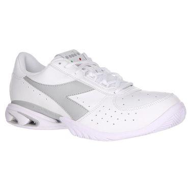 Diadora Speed Star K Elite AG Womens Tennis Shoe - White/Silver
