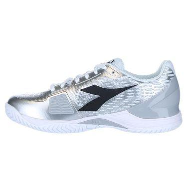 Diadora Speed Blushield 3 Womens Tennis Shoe - White/Silver
