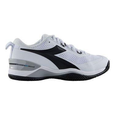 Diadora Speed Blushield 4 Womens Clay Tennis Shoe White/Black 175571 C0351