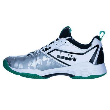 Diadora Speed Blushield Fly 2 Mens Tennis Shoe White/Green/Black 175584 C8747û