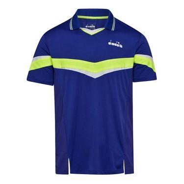 Diadora Polo Shirt Mens Blue Regista 175667 60011