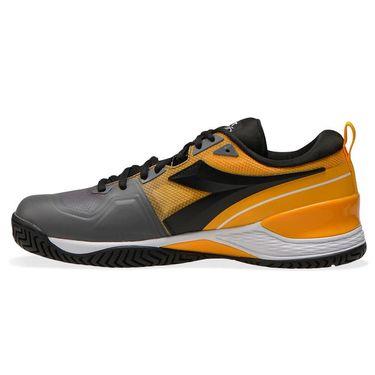 Diadora Speed Blushield 5 AG Mens Tennis Shoe Saffron/Black/Quiet Shade 176940 C9213
