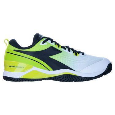 Diadora Speed Blushield 5 AG Mens Tennis Shoe White/Black/Lime Green 176940 C9650