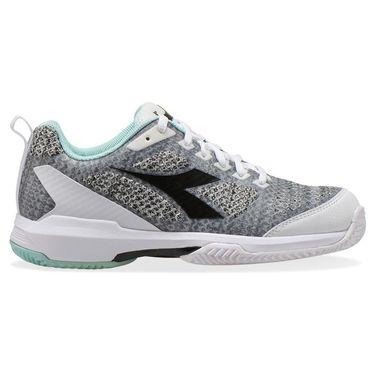 Diadora Speed Shot 2 Womens Clay Tennis Shoe White/Steel Gray/Blue Tint 176942 C9038