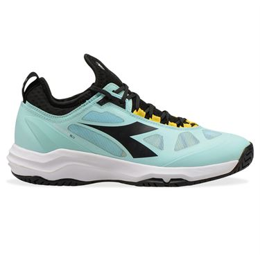 Diadora Speed Blushield Fly 3 AG Womens Tennis Shoe Blue Tint/Black/White 176948 C9216