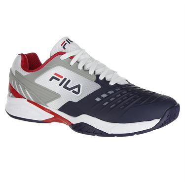 Fila Axilus 2 Energized Mens Tennis Shoe - White/Navy/Red