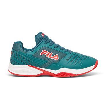 Fila Axilus 2 Energized Mens Tennis Shoe Teal/White/Red 1TM00616 422