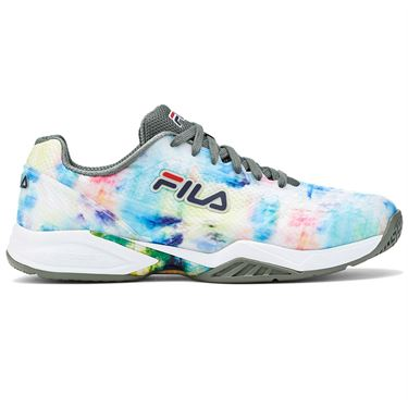 Fila Axilus 2 Energized Mens Tennis Shoe Multi/White/Green 1TM01387 769