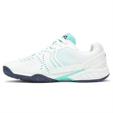 Fila Axilus 2 Energized Mens Tennis Shoe White/Navy/Light Green 1TM01389 143