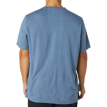 Asics Dorai Shirt Mens Storm Blue Heather 2011A137 471