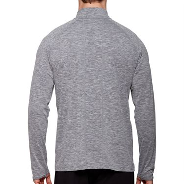 Asics Dorai 1/4 Zip Long Sleeve Shirt Mens Dark Grey Heather 2011A138 020