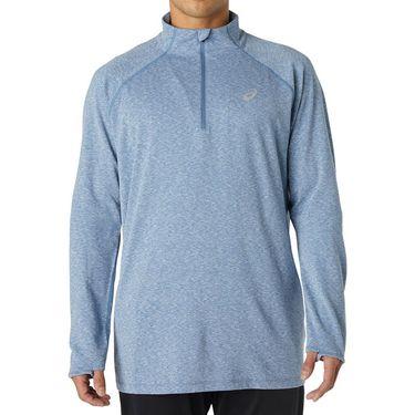 Asics Dorai 1/4 Zip Long Sleeve Shirt Mens Storm Blue Heather 2011A138 471