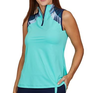 Sofibella Speed Lines Sleeveless Top Womens Mint 2016 MNT