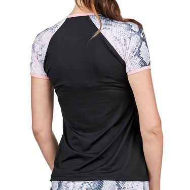 Sofibella Rose Anaconda Top Plus Size Womens Black 2041 BLKP