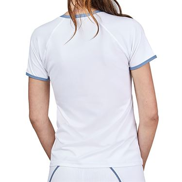 Sofibella Alignment Short Sleeve Top Womens White 2041 WHT