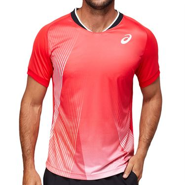 Asics Match Graphic Shirt Mens Electric Red 2041A170 602