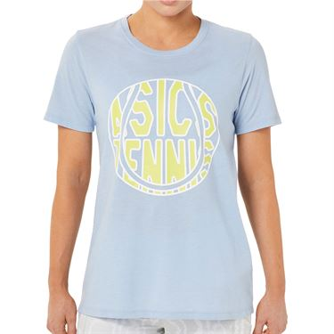Asics Strong 92 Graphic Tee Shirt Womens Mist/Glow Yellow 2042A197 453