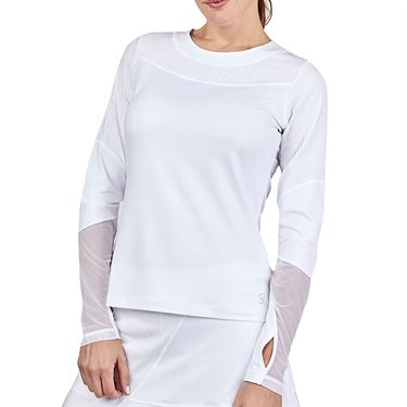 Sofibella Alignment Long Sleeve Top Womens White 2064 WHT