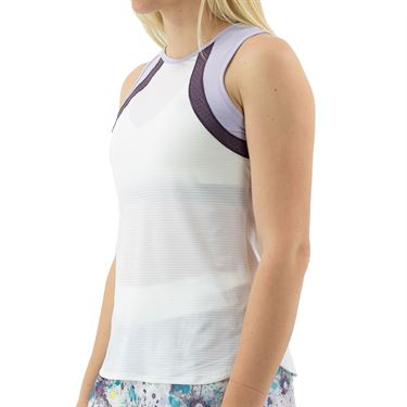 Lija Rise Up Bea Tank Womens White/Currant/Bluebell 20A 1697T1